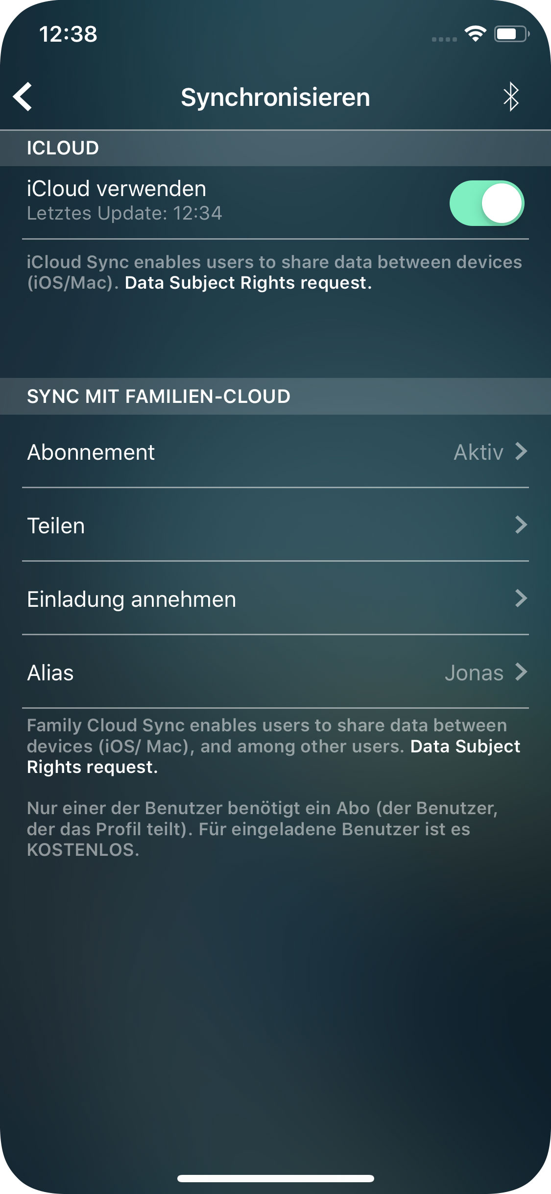 Money Pro - iCloud Synchronisierung (iOS, Mac) - iPhone