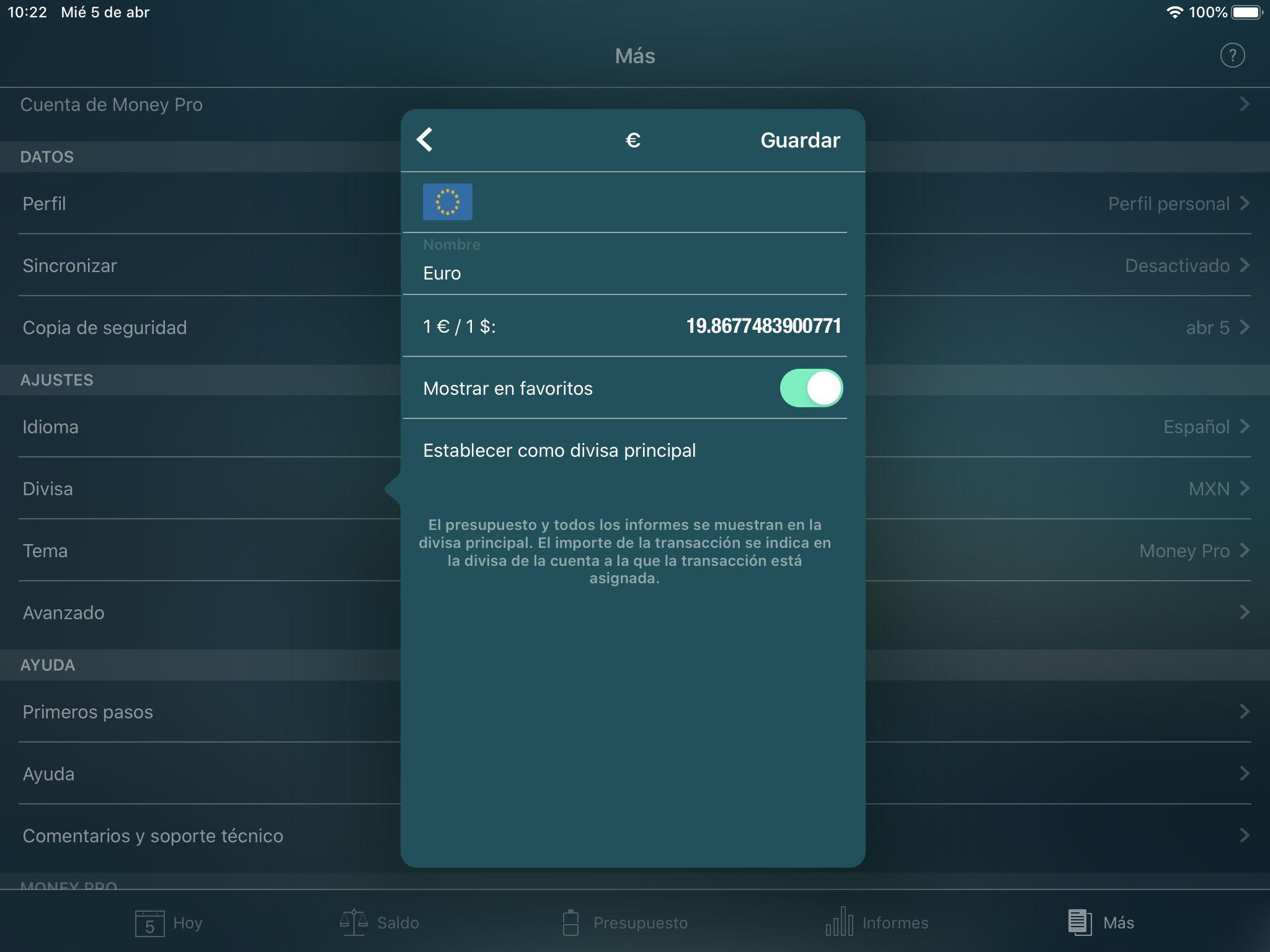 b81aee554d3 Money Pro - Convertidor de divisa - iPad