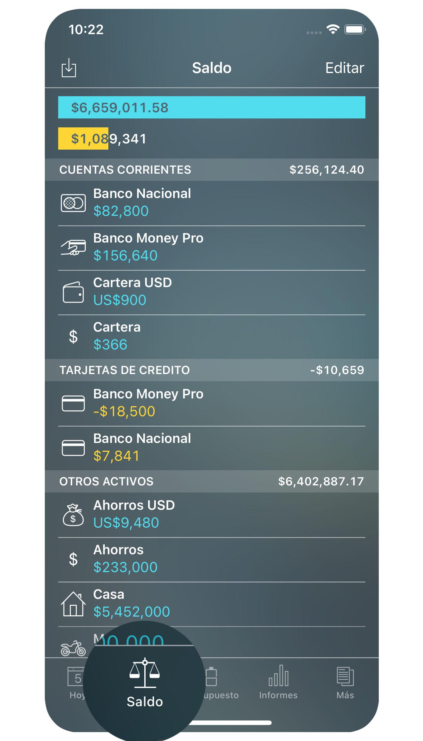 60ef23079 Money Pro - Cuentas (Saldo) - iPhone