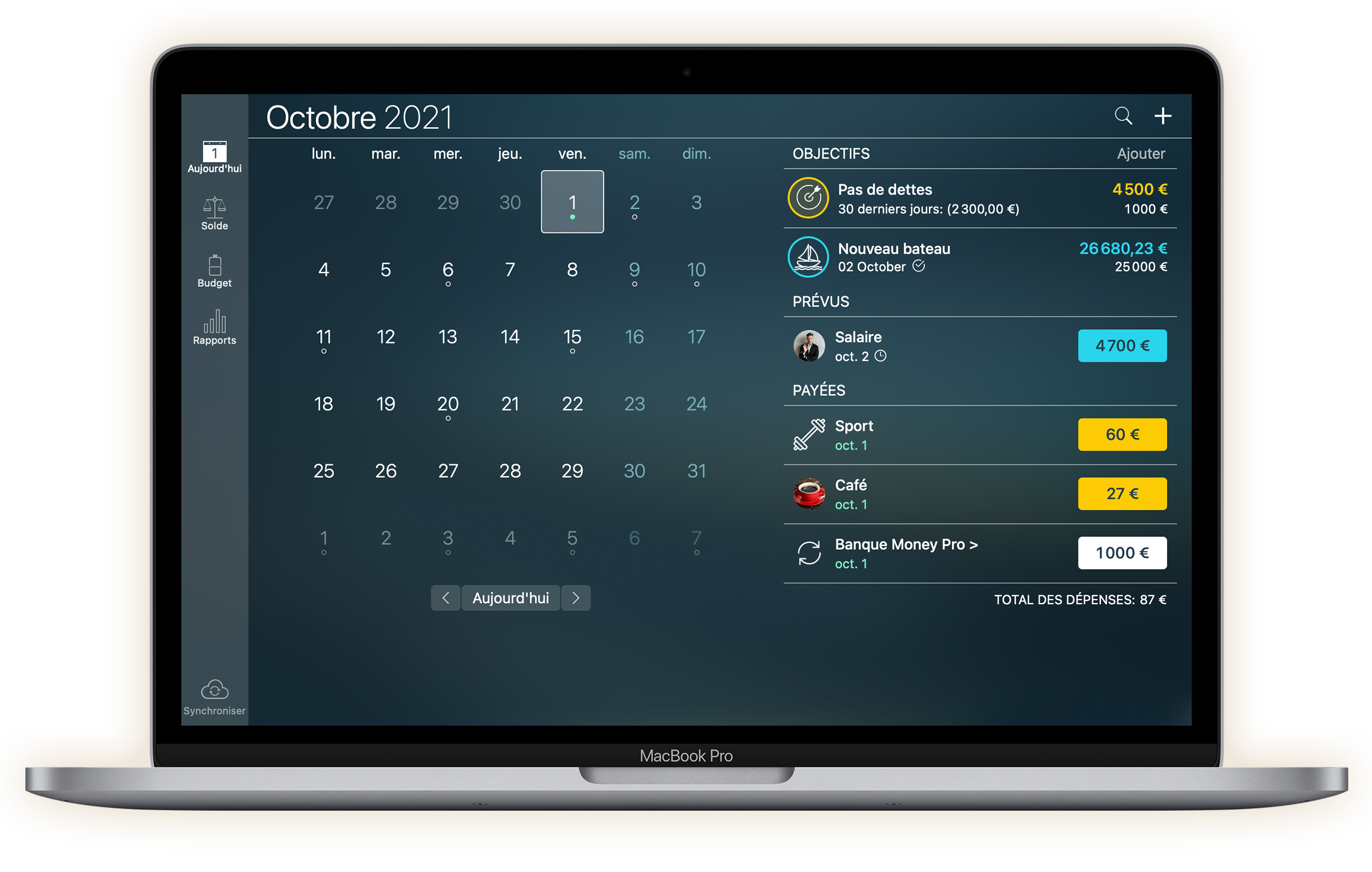 Money Pro - Calendrier - Mac