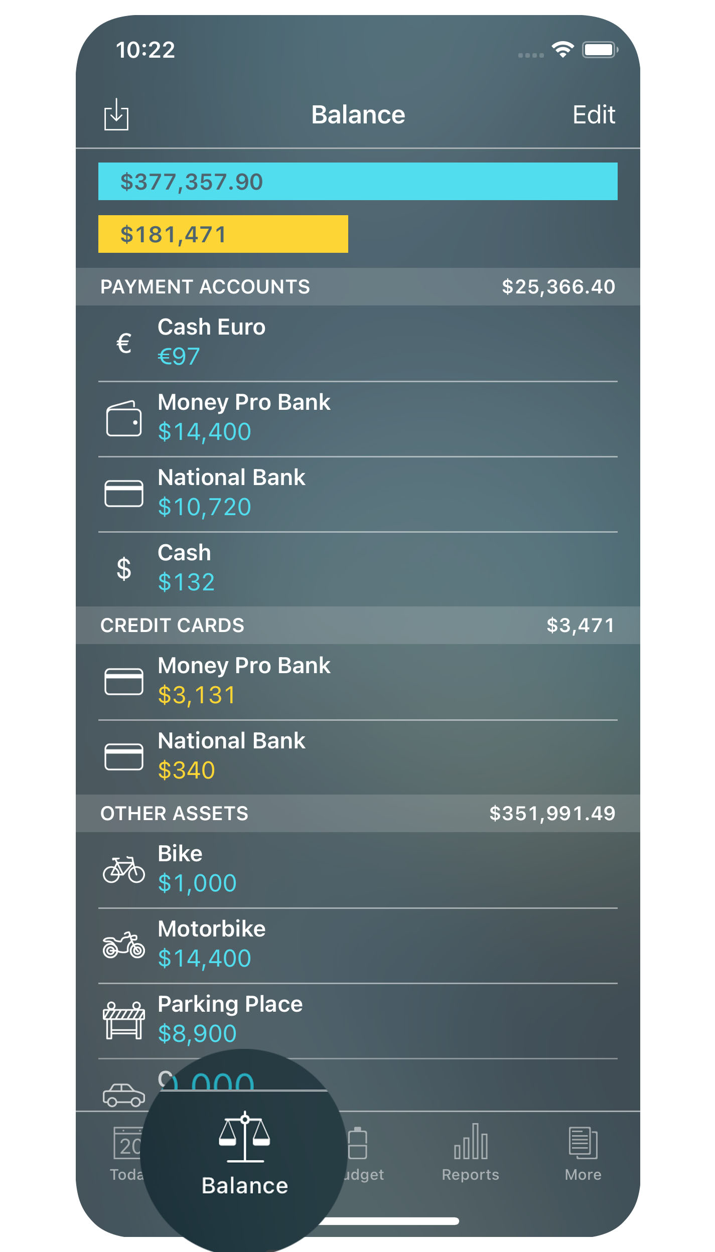 Money Pro - Accounts - iPhone
