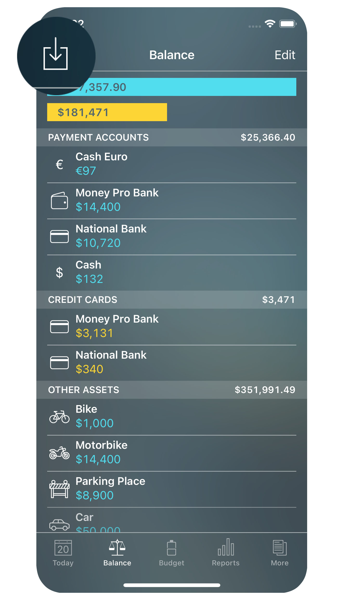 Money Pro for iPhone - Import
