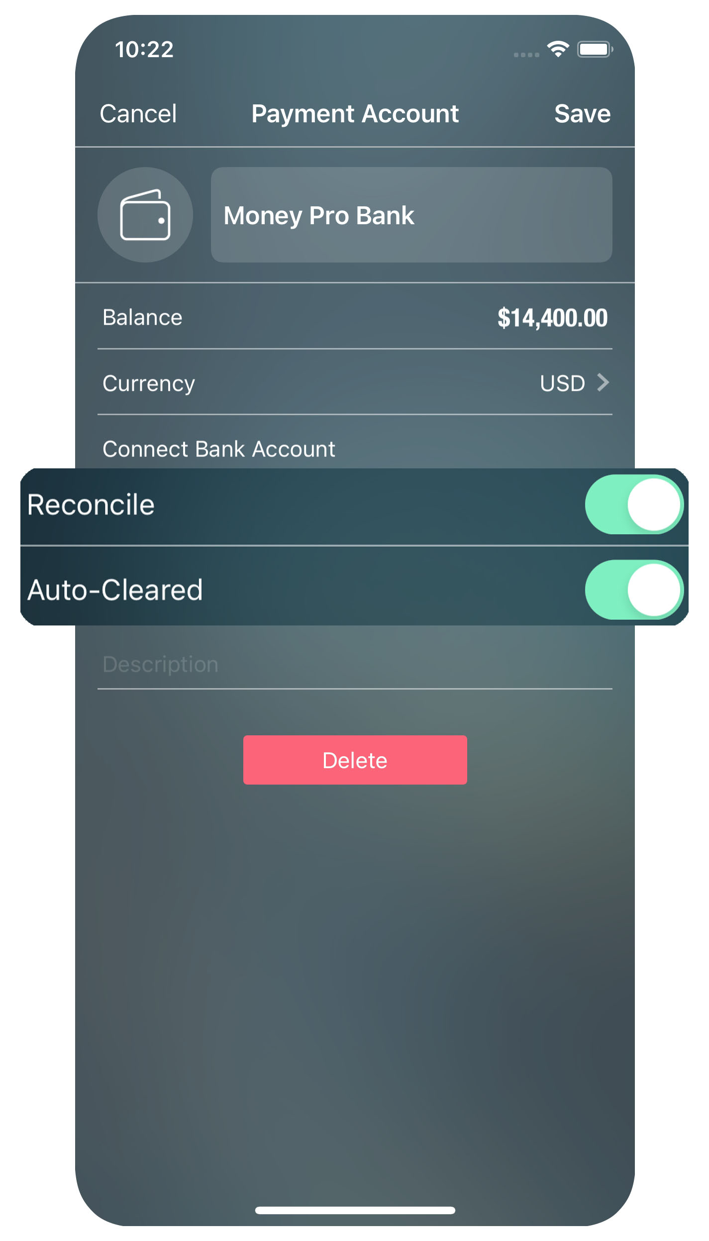 Money Pro for iPhone - Account Reconciliation