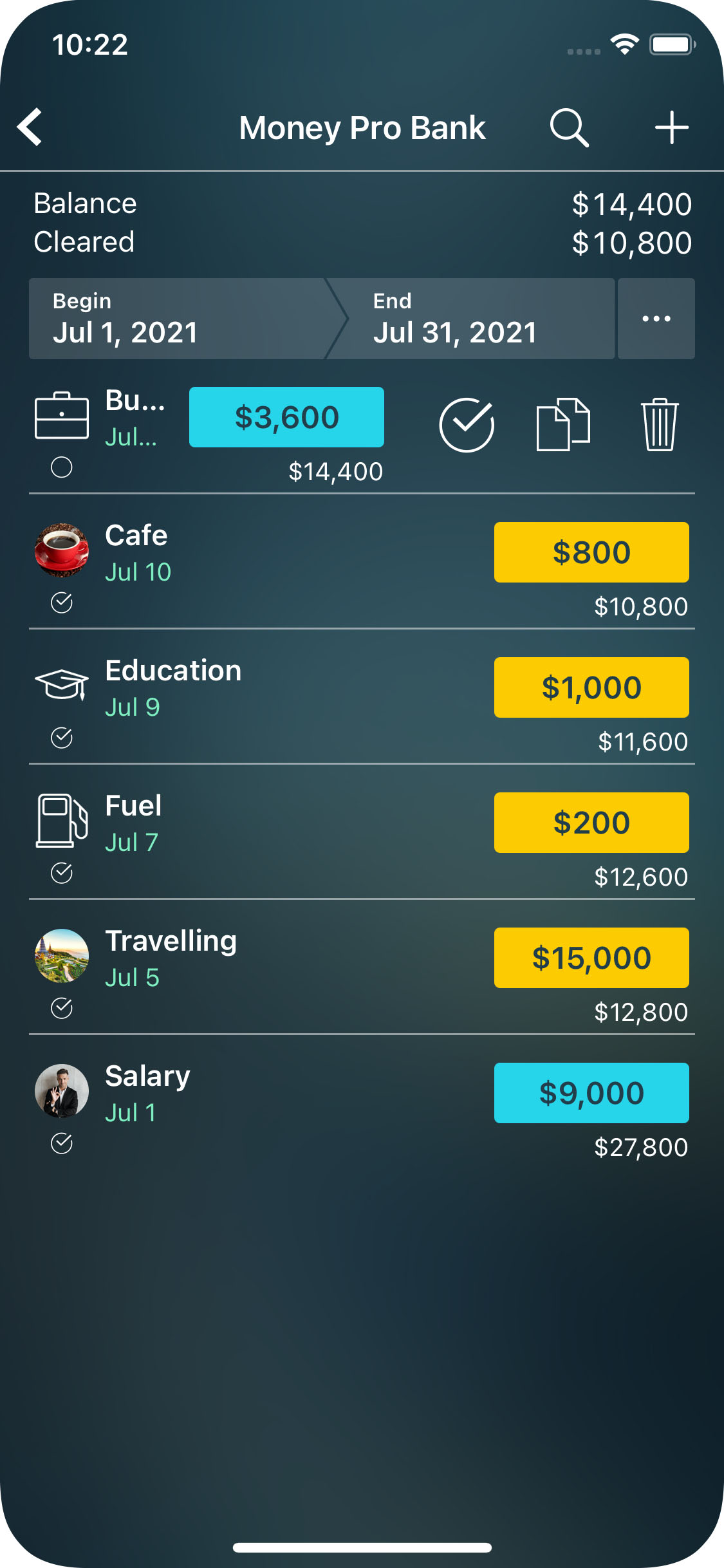 Money Pro for iPhone - Reconcile