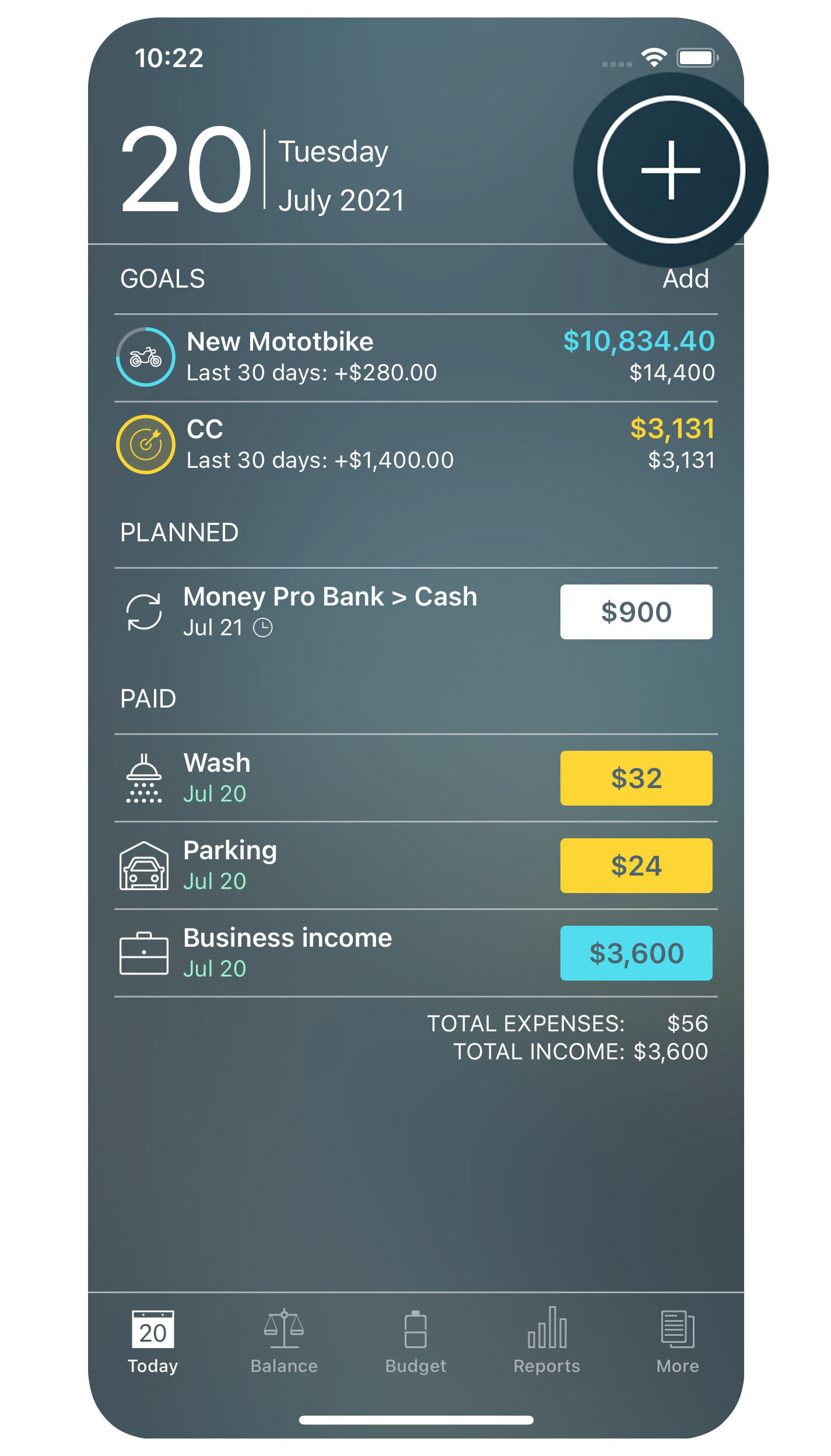Money Pro - Creating a transaction - iPhone