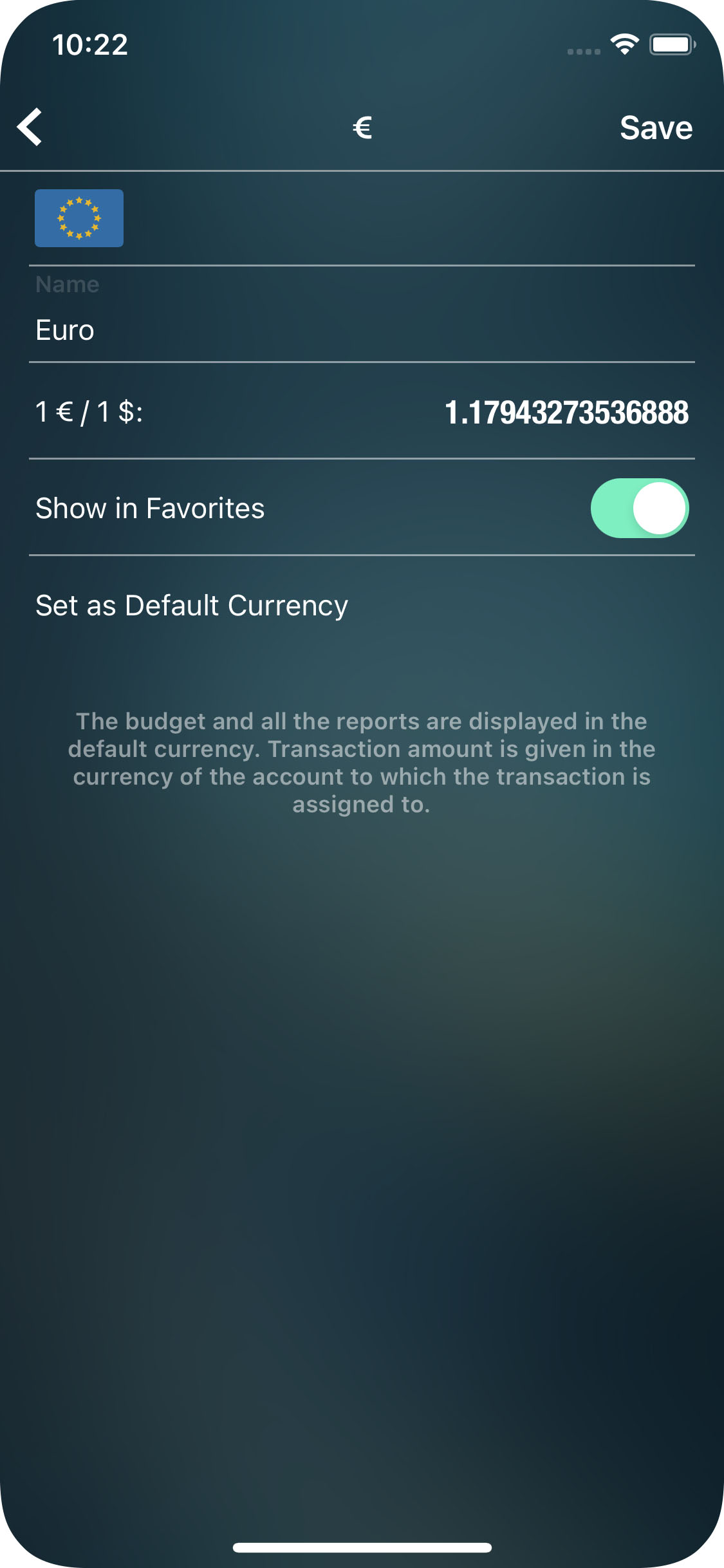 Money Pro - Currency converter - iPhone