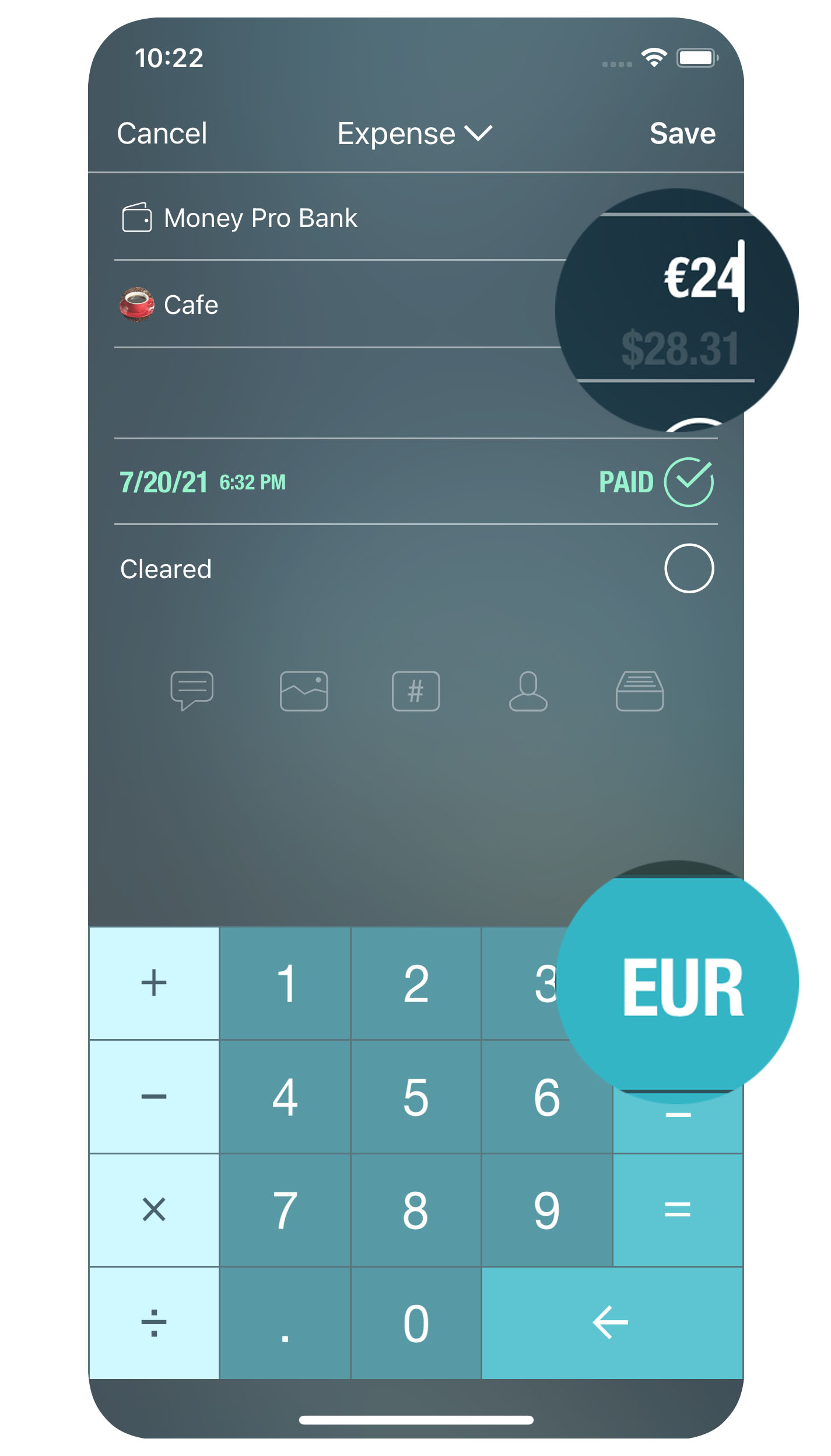 Money Pro for iPhone - Bills - Currency Converter