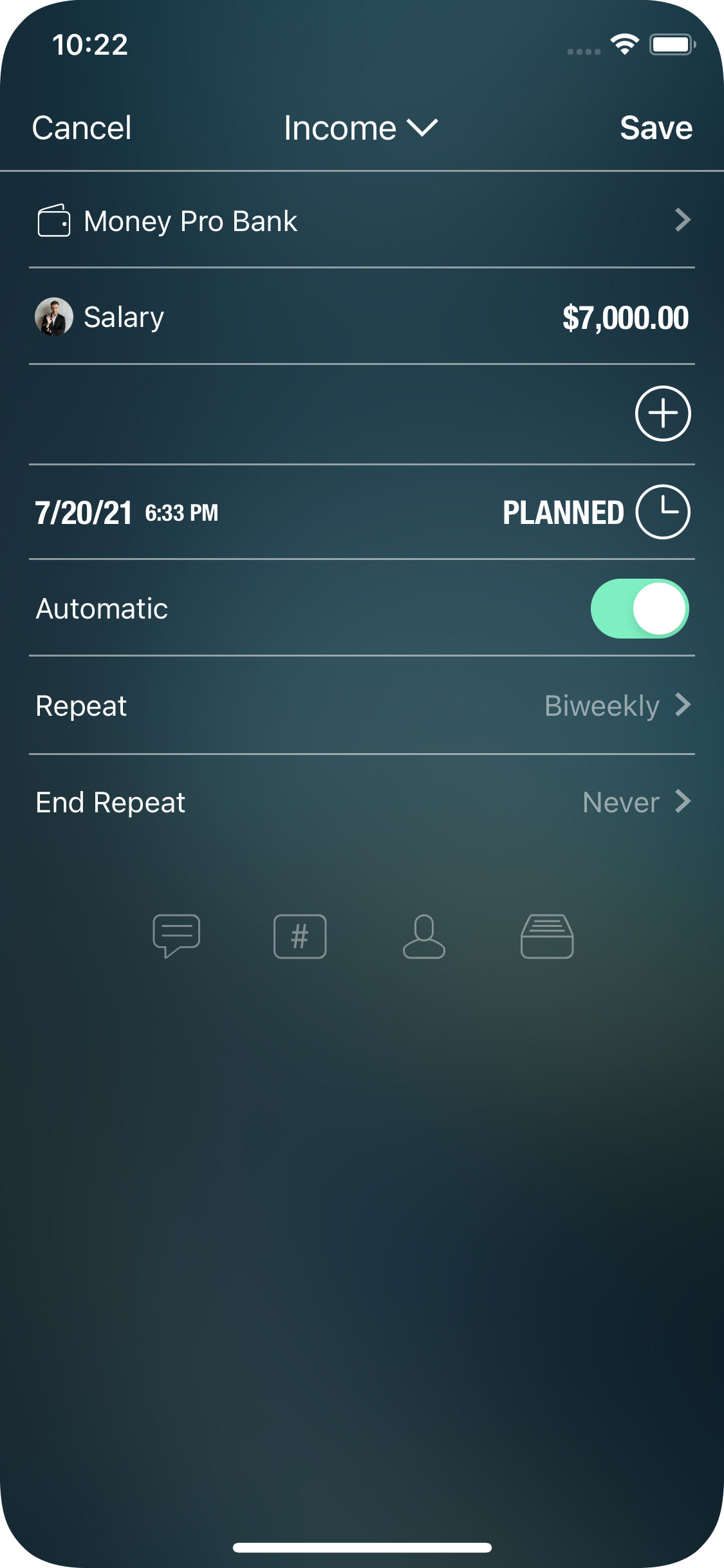 Money Pro for iPhone - Bills - Recurring