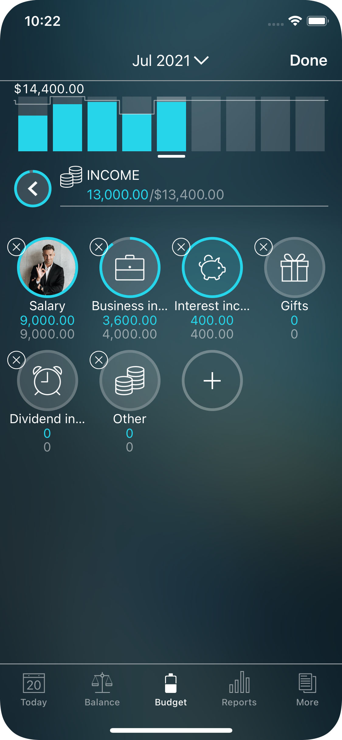 Money Pro for iPhone - Budget - Income