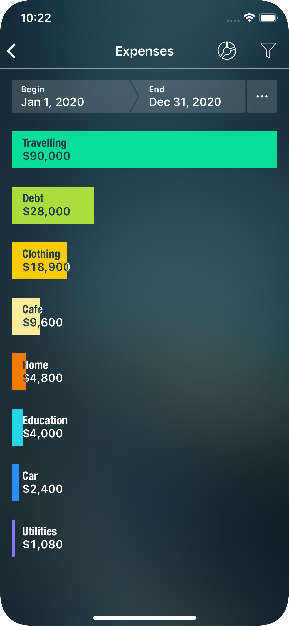 Money Pro - Income/Expenses report - iPhone
