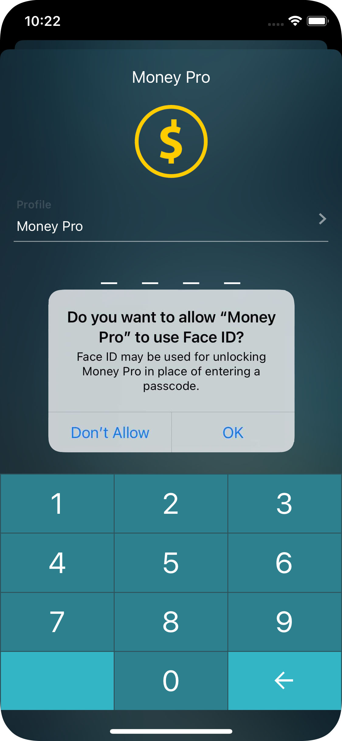 Money Pro for iPhone - Touch ID