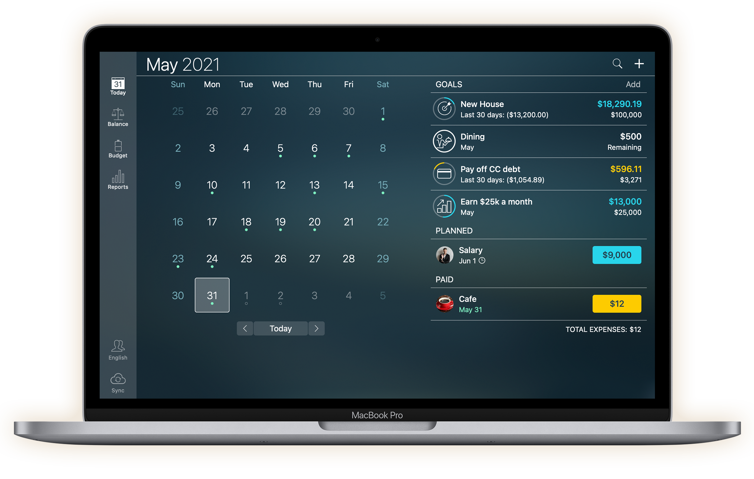 Money Pro for Mac - Calendar