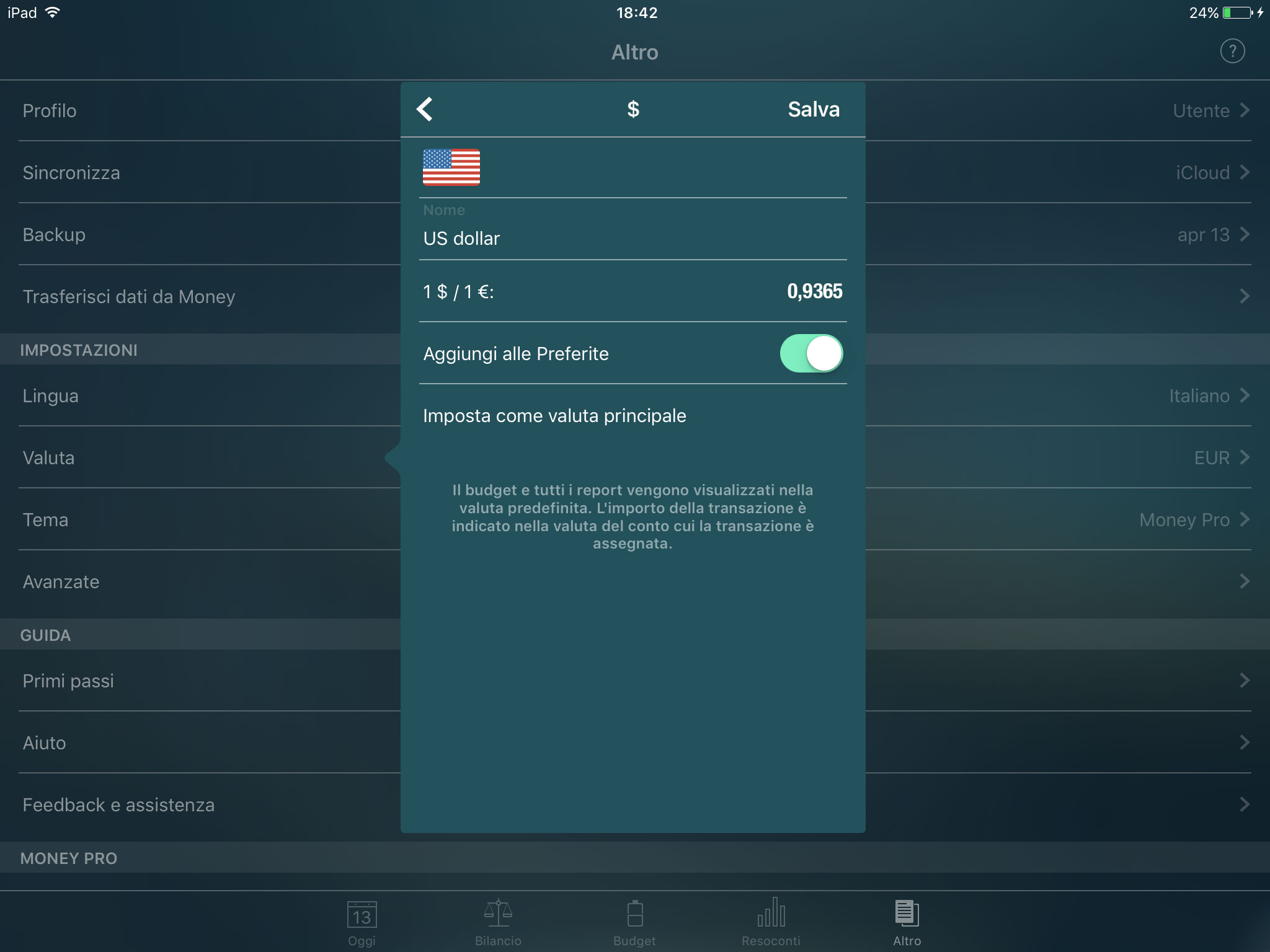 Money Pro - Convertitore di valuta - iPad