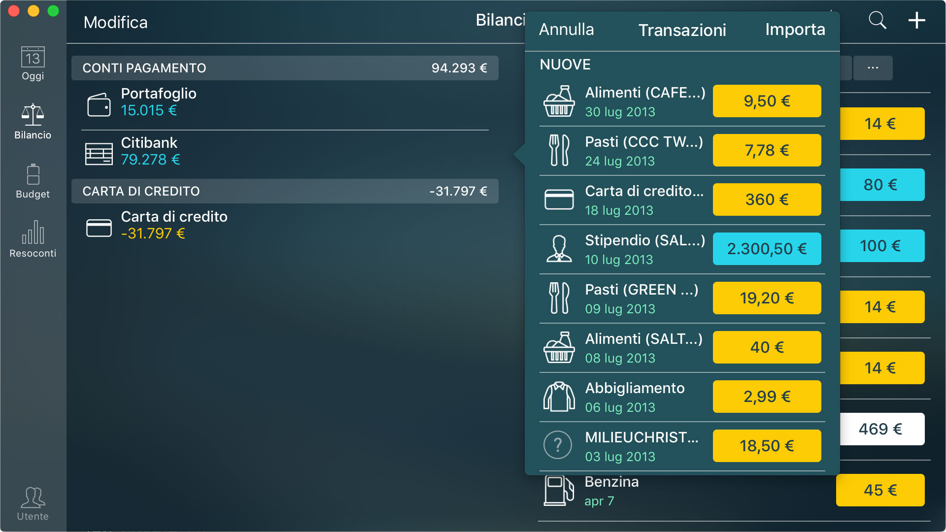 Money Pro - Importazione di file CSV e OFX (iOS, Mac, Android) - Mac