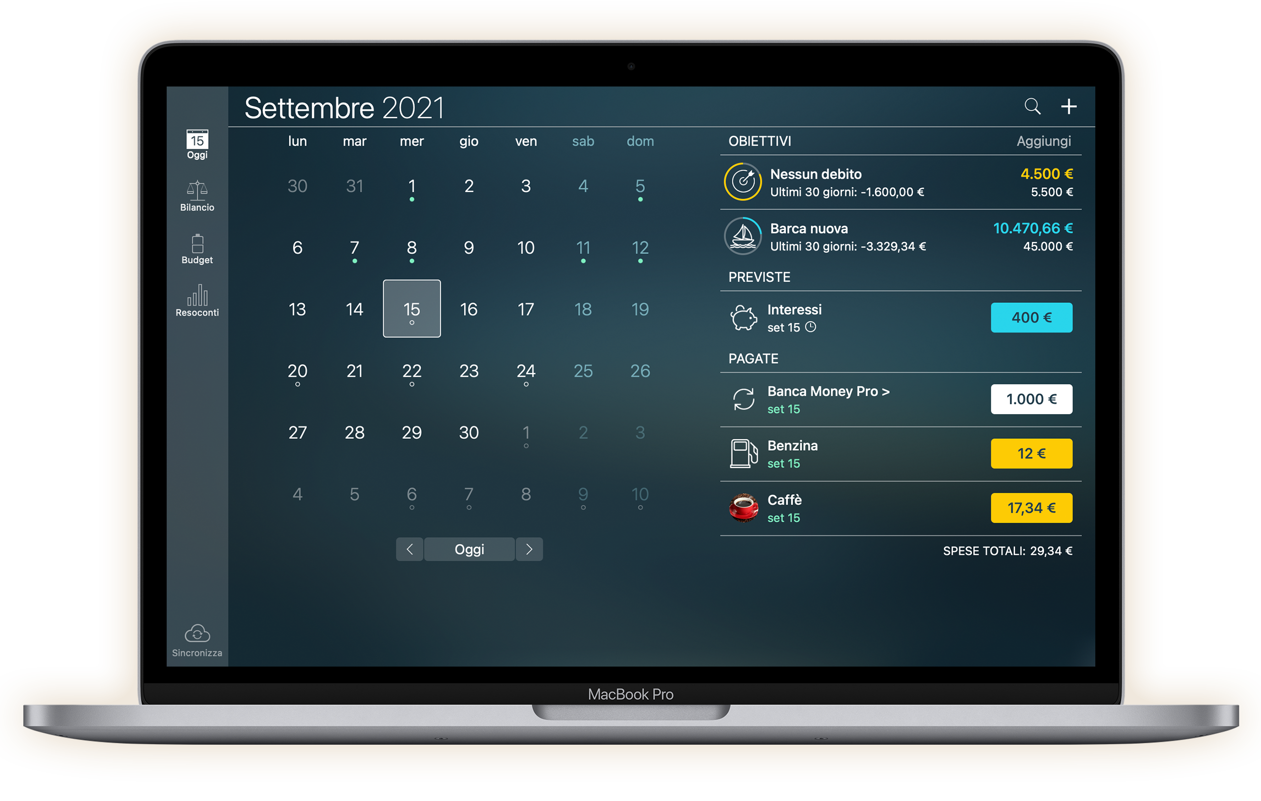 Money Pro - Calendario - Mac