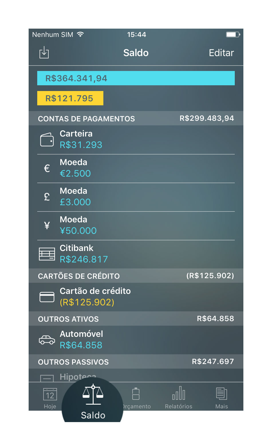 Money Pro - Contas - iPhone